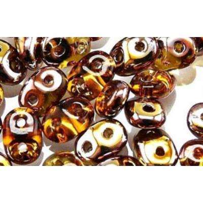 Superduo gyöngy C10060 Réz topáz 5 g