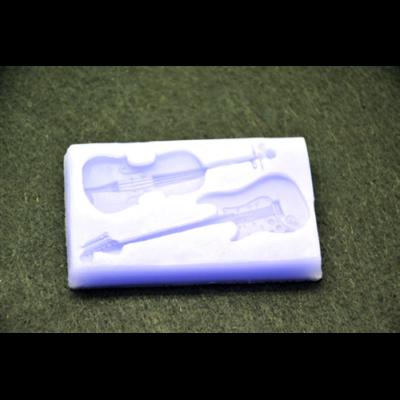 Marcipán/fondant mintázó, szilikon, húros hangszerek