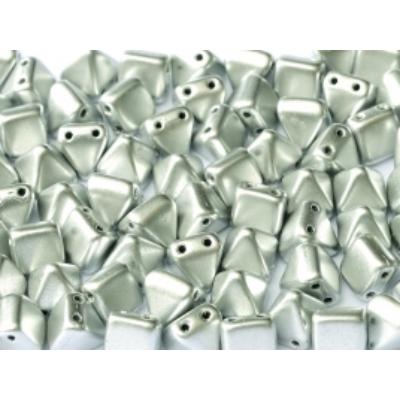 Piramis gyöngy 6*6 mm Aluminium ezüst 01700 5 db