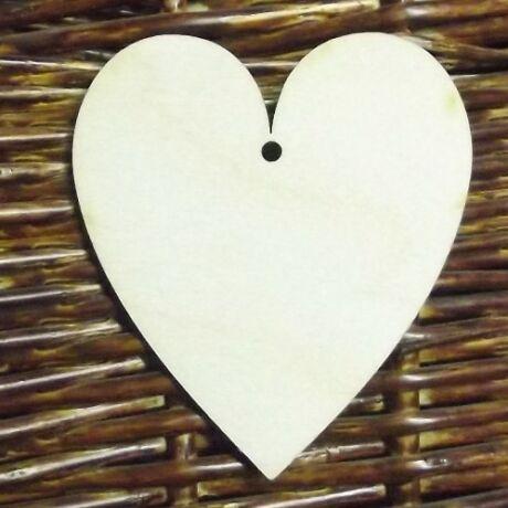 Szív 1 lyukkal 80*100*3 mm 1 db