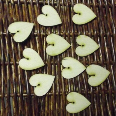 Szív 1 lyukkal35*40*3 mm, 1 db