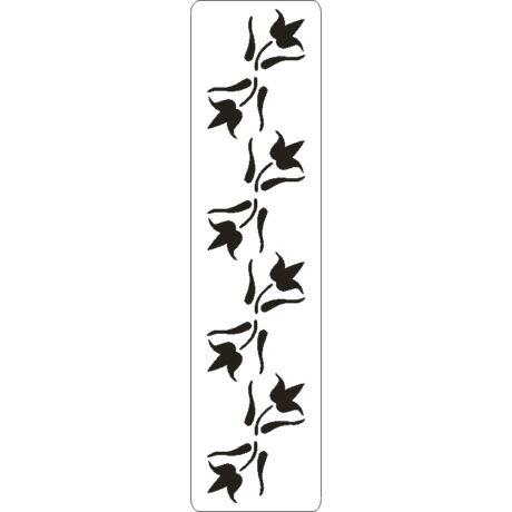 3D stencil 50*195*1 mm, tulipán girland