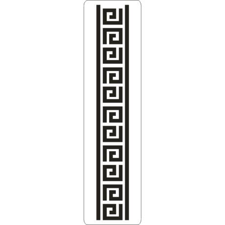 3D stencil 50*195*1 mm, görög