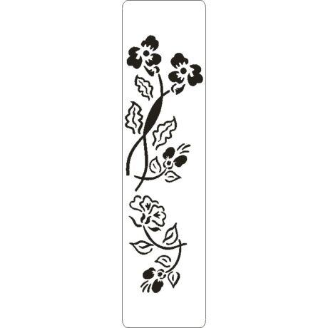 3D stencil 50*195*1 mm, virágcsokor