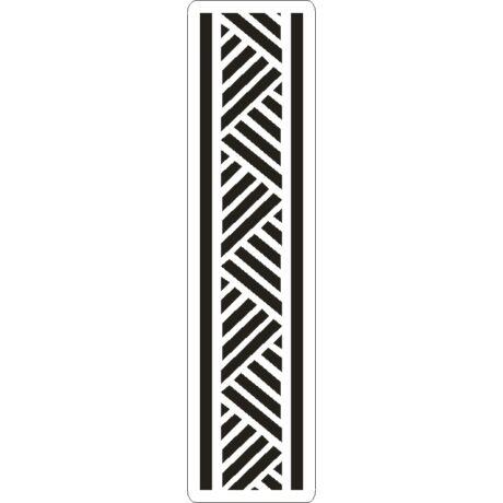 3D stencil 50*195*1 mm, háromszögek