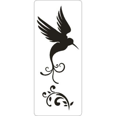 3D stencil 80*195*1 mm, kolibri