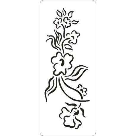 3D stencil 80*195*1 mm, virágív
