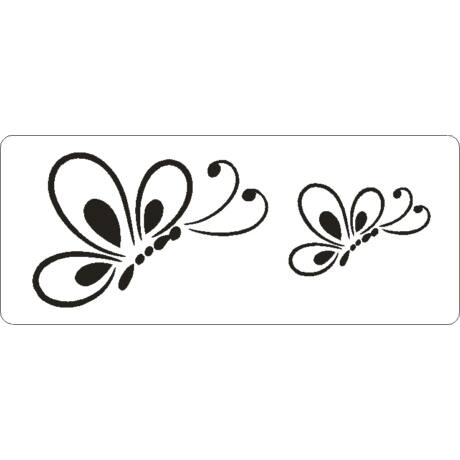 3D stencil 80*195*1 mm, lepke-pillangó