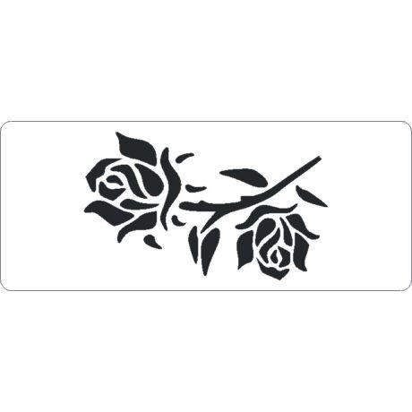 3D stencil 80*195*1 mm, rózsa