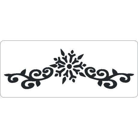3D stencil 80*195*1 mm, hópehely indával