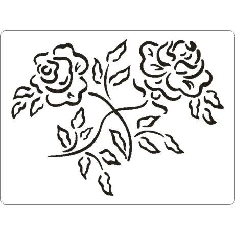 3D stencil 145*195*1 mm, rózsa