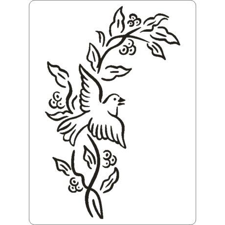 3D stencil 145*195*1 mm, galamb
