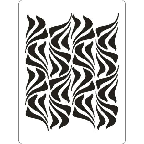 3D stencil 145*195*1 mm, hullám háttér