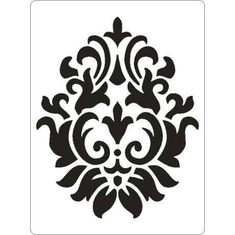 3D stencil 145*195*1 mm, barokk minta