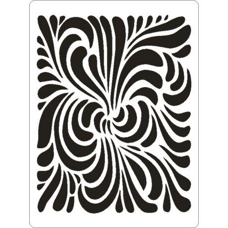 3D stencil 145*195*1 mm, örvény