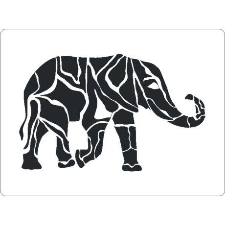 3D stencil 145*195*1 mm, elefánt
