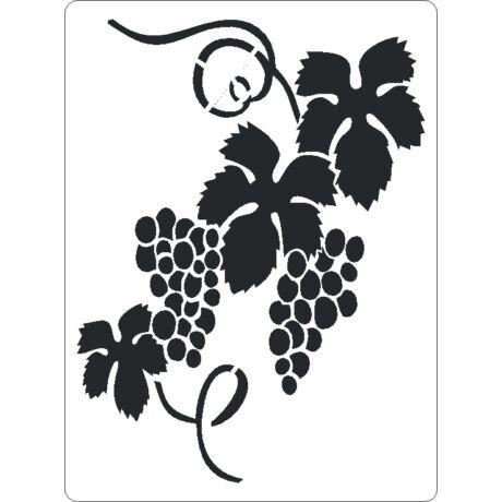 3D stencil 145*195*1 mm, szőlőfürt