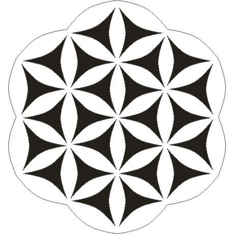 3D stencil 150*150*1 mm, kaleidoszkóp