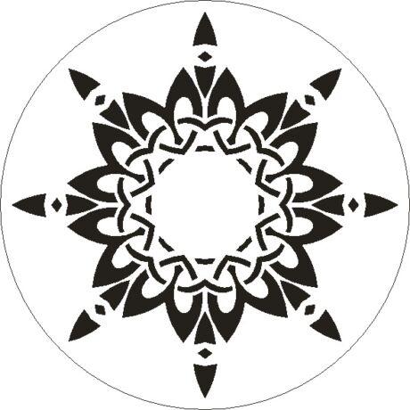 3D stencil 150*150*1 mm, nyolcágú csillag