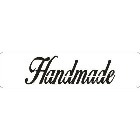"""3D stencil 50*195*1 mm, felirat """"Handmade"""""""