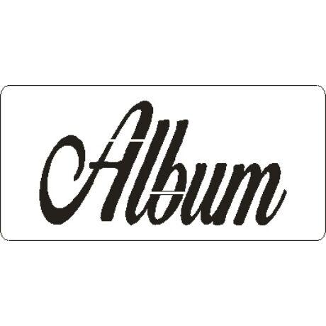 "3D stencil 50*105*1 mm, felirat ""Album"""