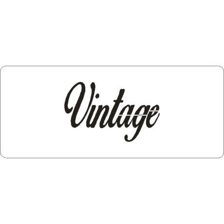 """3D stencil 80*195*1 mm, felirat """"Vintage"""""""