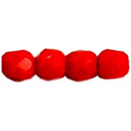 Csiszolt gyöngy 3 mm FP1-03-93190 Opak világos piros 100 db