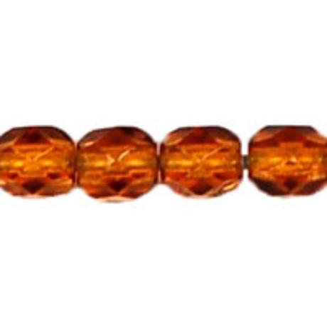 Csiszolt gyöngy 4 mm FP1-04-10100 Sötét topáz 100 db