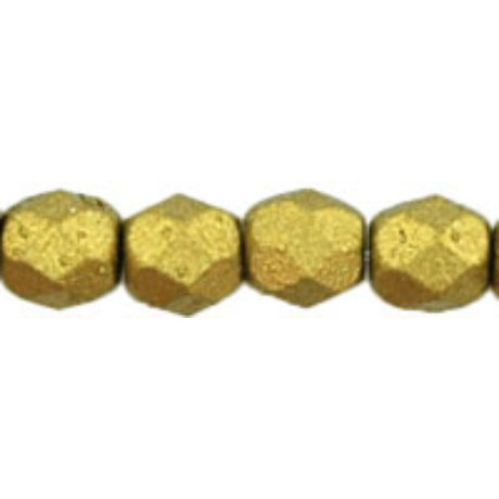 Csiszolt gyöngy 4 mm FP1-04-K0172JT Matt metál azték arany 100 db