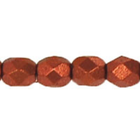 Csiszolt gyöngy 4 mm FP1-04-K0175 Matt metál sötét réz 100 db