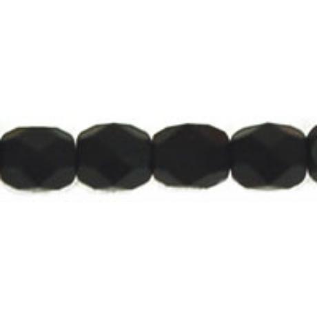 Csiszolt gyöngy 4 mm FP1-04-M23980 Matt fekete 100 db