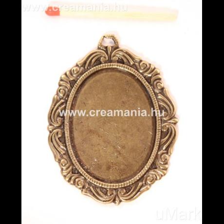 Díszes medál ovális 3*4 cm barokk