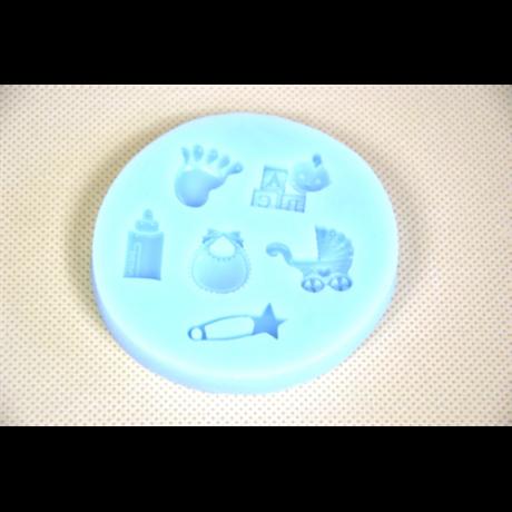 Szilikon forma 6 részes  baby minták