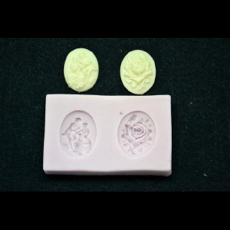 Marcipán/fondant mintázó, szilikon, antik medál 2