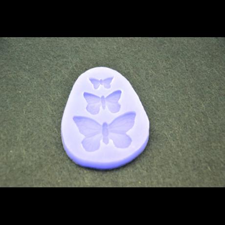 Marcipán/fondant mintázó, szilikon, pillangók, 3-as