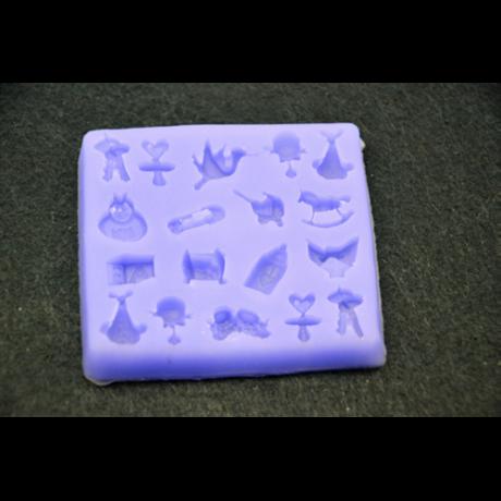 Marcipán/fondant mintázó, szilikon, baba kellékek