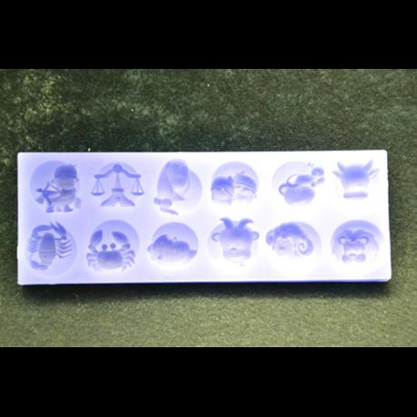 Marcipán/fondant mintázó, szilikon, horoszkóp