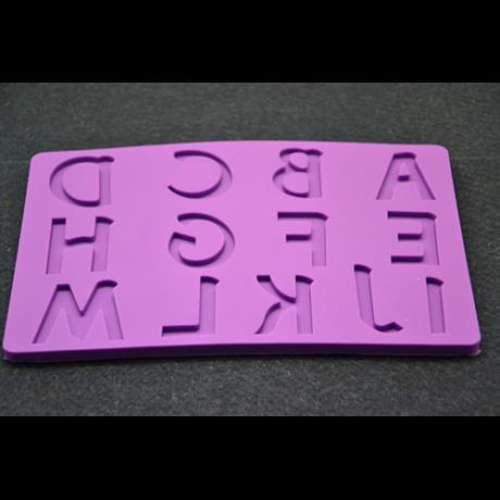 Marcipán/fondant mintázó, szilikon, betűk a-m