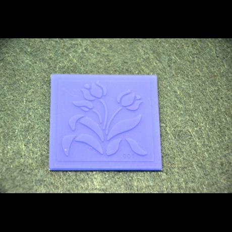 Marcipán/fondant mintázó, szilikon, lap tulipán