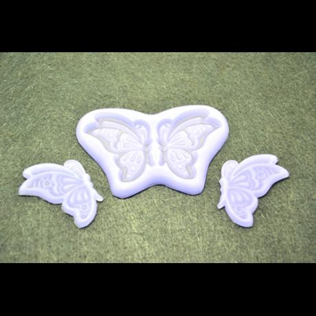 Marcipán/fondant mintázó, szilikon, repülő pillangó