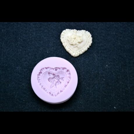 Marcipán/fondant mintázó, szilikon, szívpárna