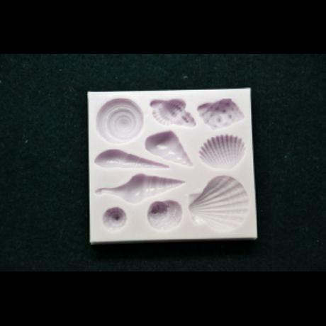 Marcipán/fondant mintázó, szilikon,  kagylók, csigák (10-es)