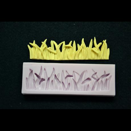 Marcipán/fondant mintázó szilikon fű