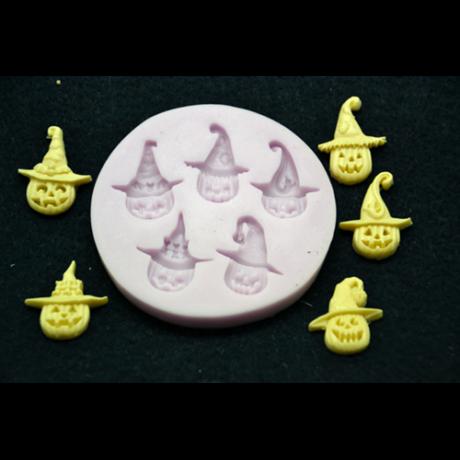 Marcipán/fondant mintázó, szilikon, halloween fejek (5-ös)