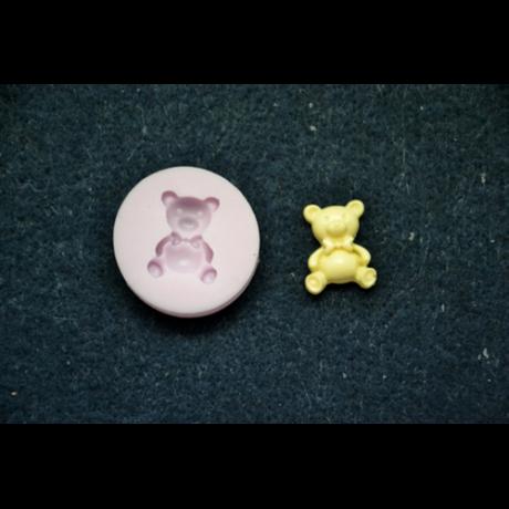 Marcipán/fondant mintázó szilikon teddy