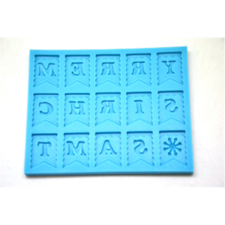 Marcipán/fondant mintázó zászlók betűkkel