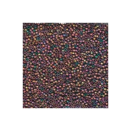 Miyuki Delica 11/0, Matt metál piros/zöld/arany irizáló, 5 g