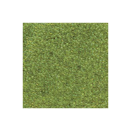 Miyuki Delica 11/0, Átlátszó olajzöld, 5 g