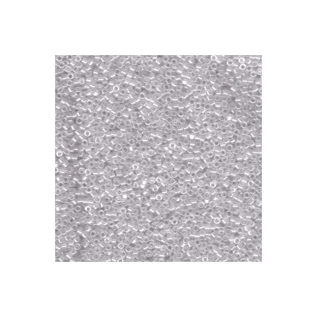 Miyuki Delica 11/0, Átlátszó lüszteres szürke köd, 5 g