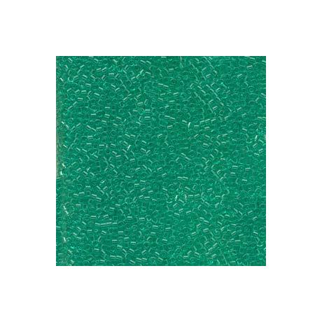 Miyuki Delica 11/0, Merítve festett átlátszó mentazöld*, 5 g